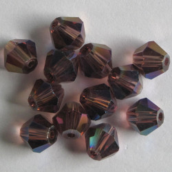 CR6652 - 6mm Crystal Bicone. Amethyst AB.