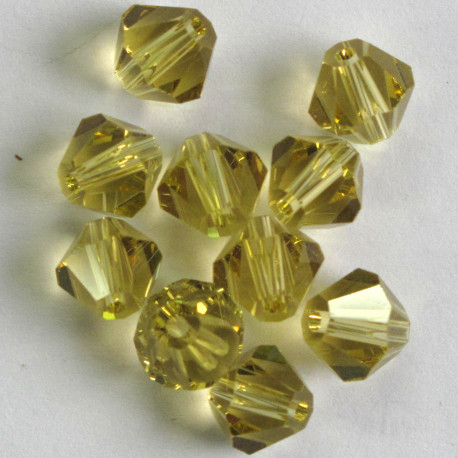 CR8805 - 8mm Crystal Bicones, Lemon Yellow.