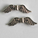 Angel wings, silver coloured. Pk of 10