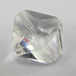 Clear crystal diamond shape.