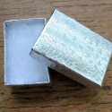 Card box, silver colour with wadding. Pack of 10.