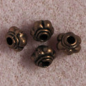 Small antique copper colour, spacer beads, pack of 50.