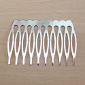 Silver colour metal comb. Pack of 2