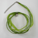 Spring green 3 strand necklace.