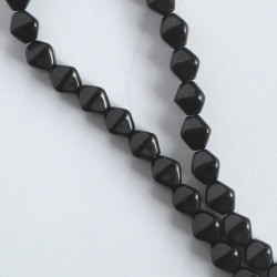 BC1320 - 6 mm Czechs Glass Bicone, Jet, Approx. 50 per Strand.