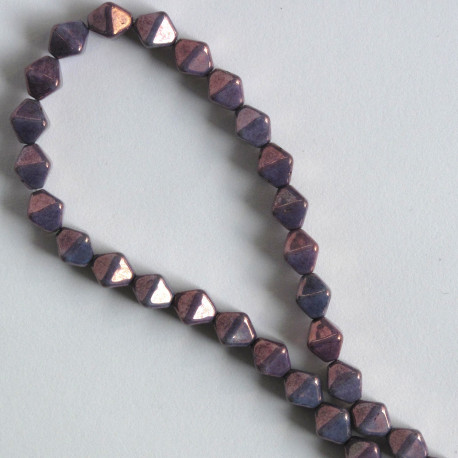 BC1331 - 6 mm Czechs Glass Bicone, Luster, Opaque Amethyst, Approx. 50 per Strand.