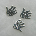 Antique silver colour hand charms, hand made.
