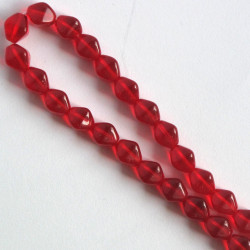 BC1352 - 6 mm Czechs Glass Bicone, Red, Approx. 50 per Strand.