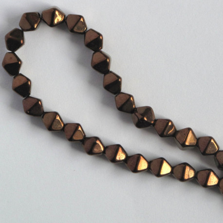 BC1361 - 6 mm Czechs Glass Bicone, Luster, Dark Bronze, Approx. 50 per Strand.