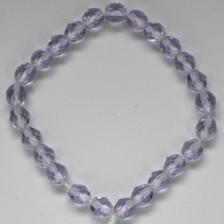 6mm Czech fire polished glass beads, alexandrite, approx. 25 beads per strand.