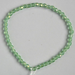 3mm Czech fire polished glass beads, peridot AB.