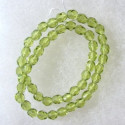 4mm Czech glass fire polished beads lime green. String of 50