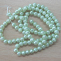 Light mint green 4mm glass pearl. Pk of approx 120