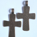 Large embossed, cross pendant. Pack of 2