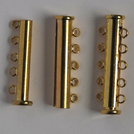 F4014g - 5 String Clasp with Added Magnet, Gold Coloured.