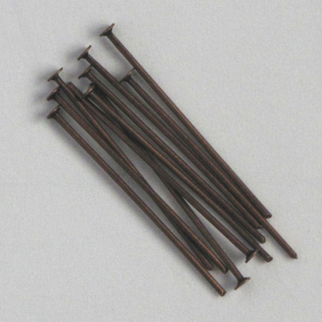 "F4040c - 1"" Head Pins, Copper Coloured."