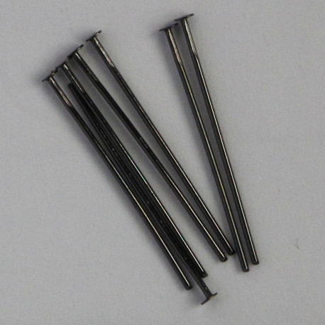 "F4040b - 1"" Headpins, Black Coloured."