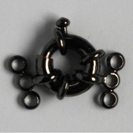 F4063b - Large Bolt Ring for 3 Strand Necklace, Black Coloured.