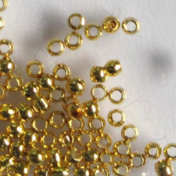 1.5 mm crimp ball, gold colour, pack of 100.