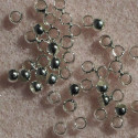 2.5 mm crimp ball, silver colour, pack of 100.