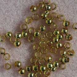 2.5 mm crimp ball, gold colour, pack of 100.