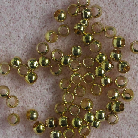 F4079g - 2.5 mm Crimp Ball, Gold Colour, Pack of 100.