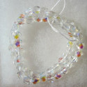6mm Czech fire polished glass beads crystal clear AB. Sold per string of 50