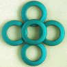 ST2006 - Large, Open, Soft Touch Acrylic Bead, 34mm, Teal, Pack of 5.