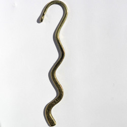 Wavy bookmark with loop, antique brass coloured, pack of 1.