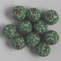Polymer clay bead, approx. 10 mm, pack of 10.