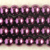 PL1072 - 10mm Glass Pearls, Plum Coloured.