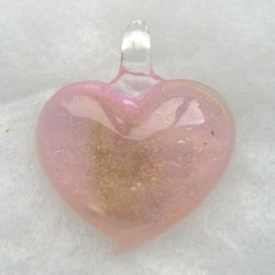 Pink and gold heart pendant.