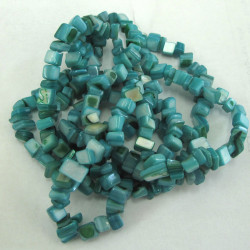 SHL3440 - Long String of Turquoise Colour Shell Chips.