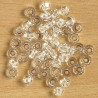 CR3301 - 3mm Crystal Bicones, Clear, Pack of 50.