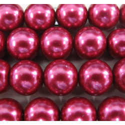 12mm red glass pearls. Per stand
