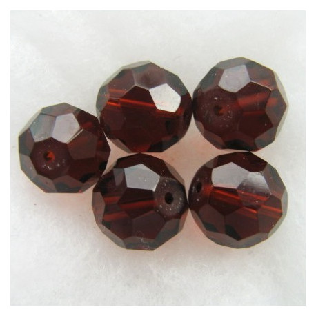 FP1473 - 14mm dark brown fire polished glass bead