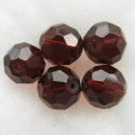 14mm dark brown fire polished glass bead