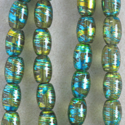 GB1862 - Olive Green, Long Strand, Oval Beads, Approx. 14 mm by 10 mm.