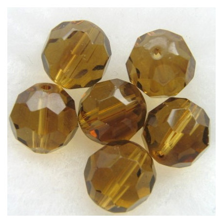 FP1467 - 14mm light brown fire polished glass bead
