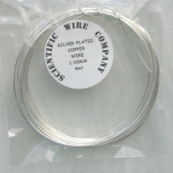 Silver plated copper wire, 1.0mm diameter. 4m length