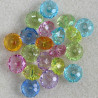 AC4830 - Plastic, Rondelle Shaped Beads, Mixed Colours, Pack of 20.