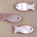Pink, fish beads, pack of 3.