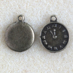 Small pocket watch charm in a steam punk style, pack of 10.