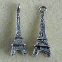 Eiffel tower charm, pack of 4.