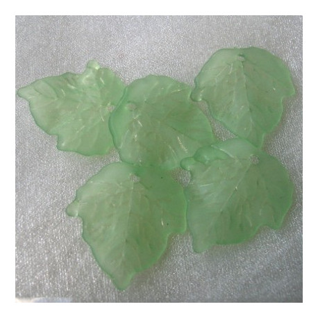 LF0305 - Wide Light Green Lucite Leaf.