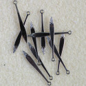 Dagger style bead charm, pack of 10.