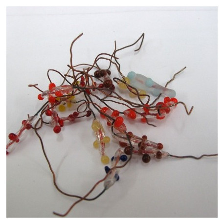 SALE40 - Glass and wire stamen. Pack of 20 mix.