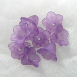 LC0203 - Lucite harebells, purple , 11mm x 13mm. Approx 22 per pack