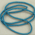 Long strand turquoise blue. 4mm pearls.