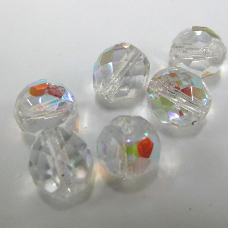 FP1000 - 10mm fire polished clear AB. pack of 10
